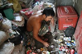 Man working in the garbage